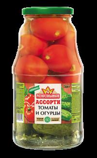 Ассорти маринованное (огурцы и томаты) (ГОСТ) 1800гр.
