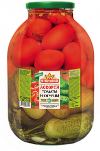 Ассорти(огурцы+помидоры) 3000гр.