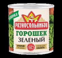 Горошек зеленый консервированный (ГОСТ, сорт высший) 400гр.