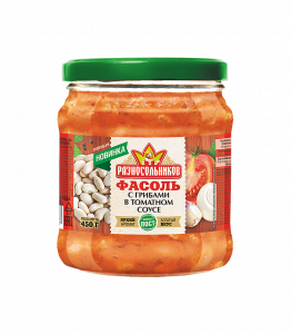 Фасоль с грибами в томатном соусе (СТО) 450гр.