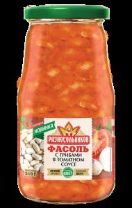 Фасоль с грибами в томатном соусе (СТО) 510гр.