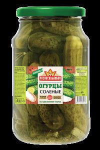 Огурцы Соленые с лимонной кислотой (ТУ) 900гр.